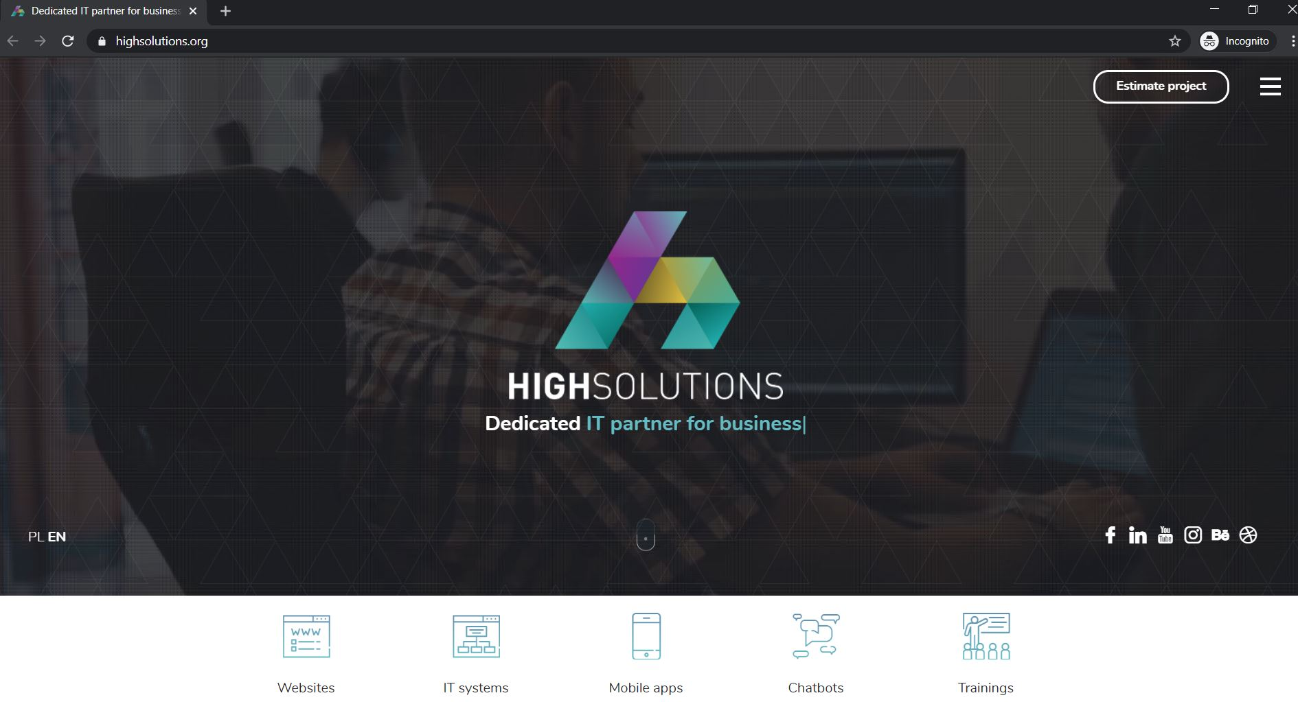 Highsolutions Website Preview